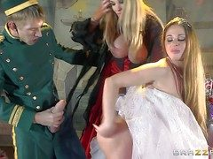 Cathy Heaven and Rebecca Moore are milfs with illustrious melons