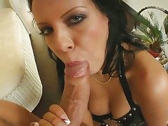 Sexy Chloe gives sucks ger guys bushwa dry and