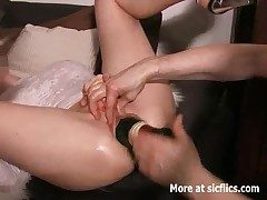 Enormous vaginal bottle fuck with an increment of fisting cancellation