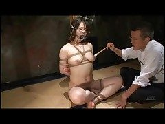 Weirdo play with bound Japanese spread out