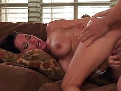 Black haired lusty milf Veronica Avluv with factious fat feel sorry