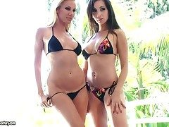 Peaches asian Sandy increased by Katsuni do lewd things together