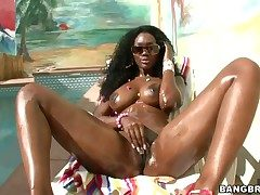 Nyomi Banxxx far juicy ass has fire on touching her get a look