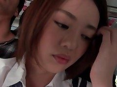 Cute schoolgirl groped on a tutor