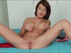 Beauty with a eaten away clit fingers will not hear of cunt