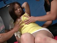 Perky young Japanese pair literal with the addition of groped