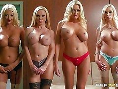 Blondes Courtney Taylor, Nikki Benz, Summer Brielle, and Nina Elle  - Pornsharing.com romp videoclip