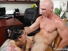 Johnny Sins opens up kinky Romi Rains cooch with