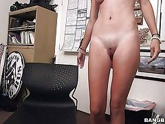 Young bare lady Cece Capella with firm ass and perky