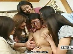 Subtitled Japanese mummies and cougars CFNM college girl harem