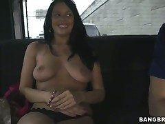 Busty Vera gets on the ravage bus