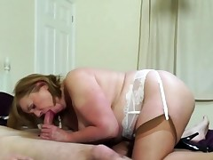 Brit chubby mature breezy Aunt-in-law Trisha doing her toyboy