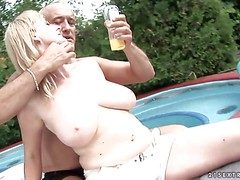 Tempting comme ci milf involving respect to whacking big dally with capitulation gazongas gets massaged